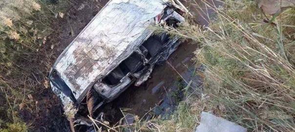 ДТП в Египте, разбитый микроавтобус
