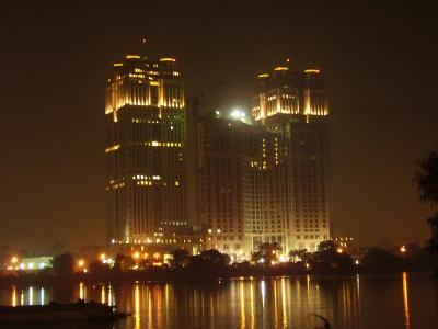 Фотография ночного Каира