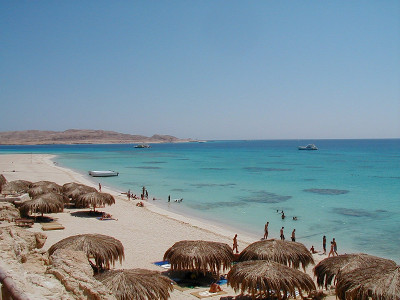 Beach at the Hurghada city