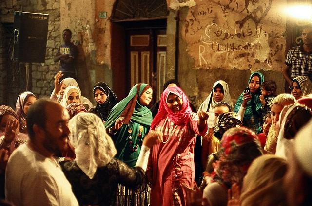 Египетская улица. Свадьба.