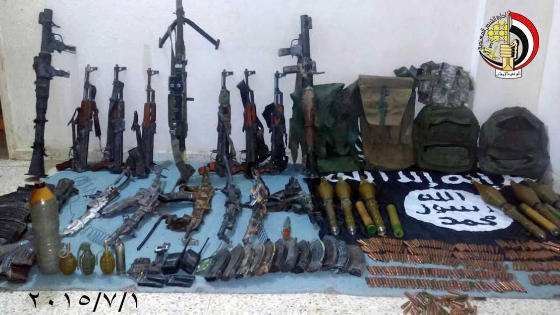 Оружие боевиков, напавших на Шейх Зувейд.