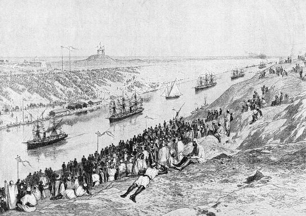 Открытие Суэцкого канала в 1869 году.