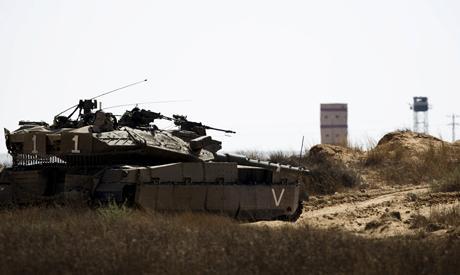 Израильские танки у границы Египта.